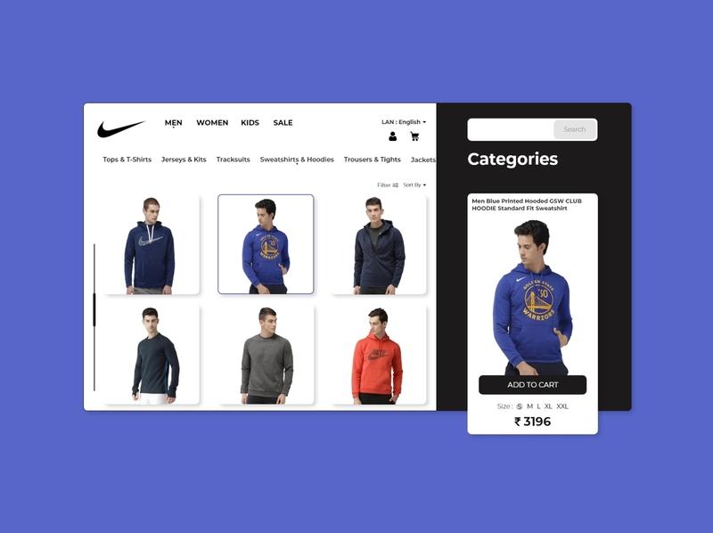 Nike Website Concept. ui webdesign uxuidesign uidesign ux uxui adobe xd landingpage adobe photoshop