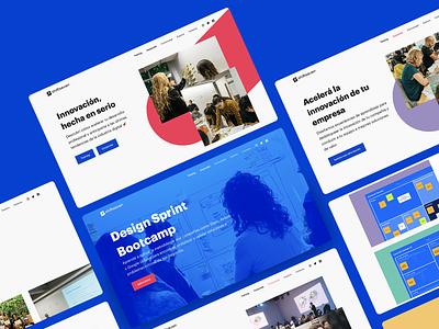 Shiftseven - Website pink web ui website ux startup landing