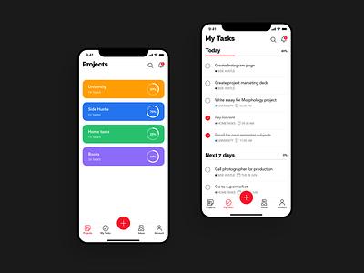 Task Management Concept ios todolist productivity app minimal clean uiux ui