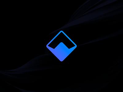 Wibson Logo app startup mark arrow purple logo
