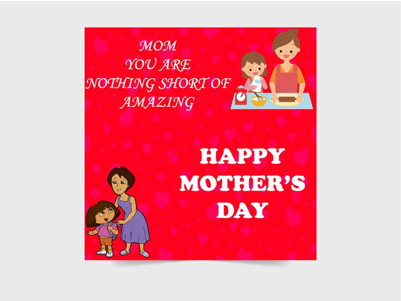 MOTHERS DAY SOCIAL MEDIA POST concept typography mothers day special vector illustration beuty stylish design