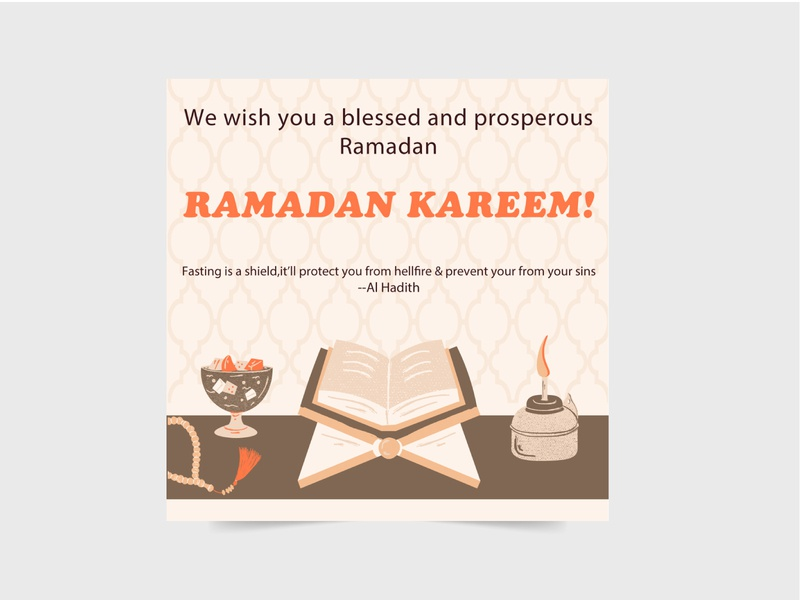 RAMADAN KAREEM SPECIAL SOCIAL MEDIA POST prayer ramadan concept typography special vector illustration stylish design