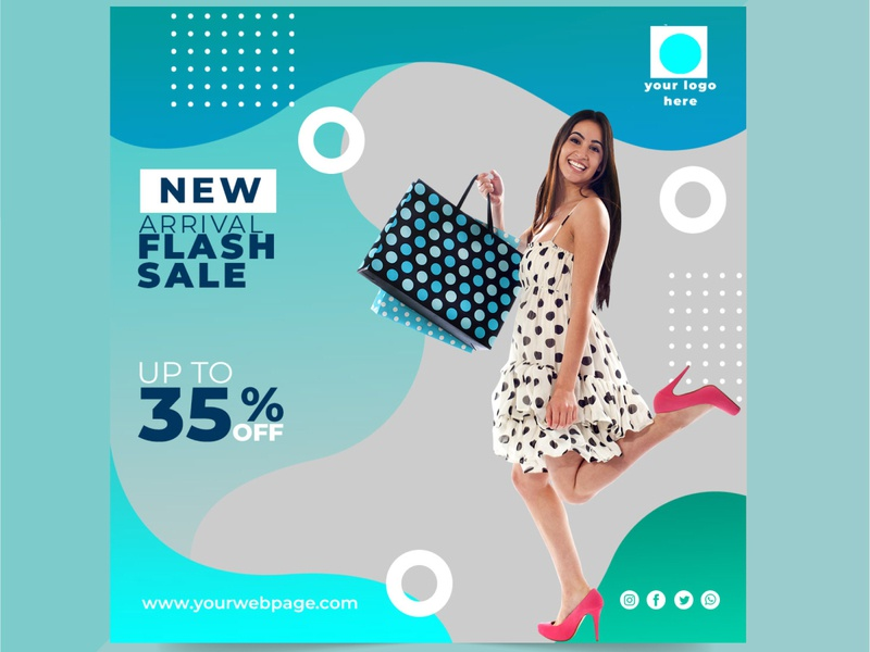 Beautiful uniq online sale social media post design flash sale mega sale big sale sale business typography concept brand branding special beuty stylish design