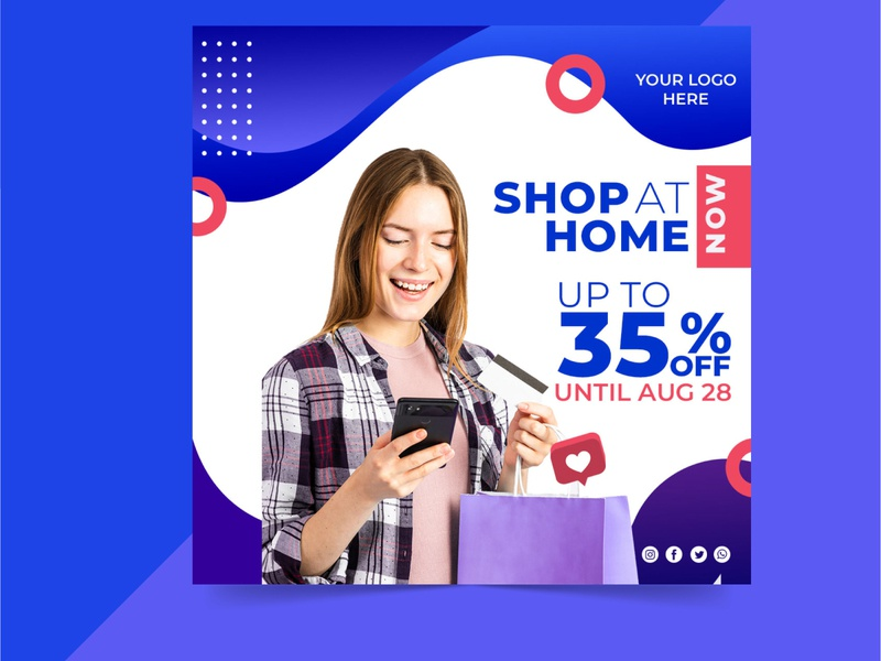 wonderful uniq online sale social media post design online shop instragram facebook mega sale flash sale big sale online store home shopping online sale concept business typography branding special beuty stylish design