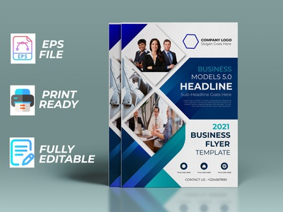 outstanding beautiful uniq corporate flyer design brand typography illustration special beuty business concept branding stylish design