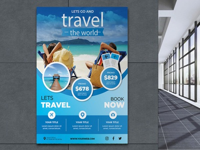 Creative modern unique travel poster design business typography concept brand vector branding special illustration beuty stylish design