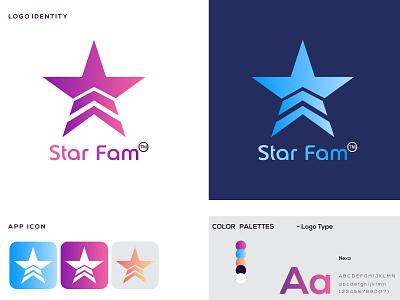 Star Fam Logo Design company logo design company brand logo graphic design corporate logo design business logo design star logo brand identity corporate identity design vector branding logos logo