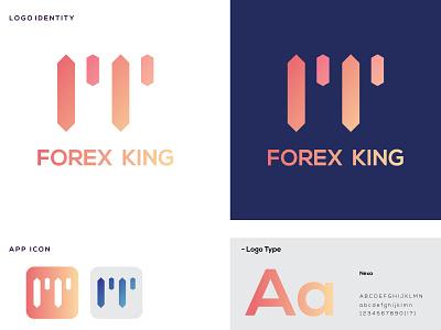 FOREX KING logo maker logo identity logo designer logo icon logo mark symbol icon logotype logo mark design logo mark logo design corporate identity vector branding logos logo
