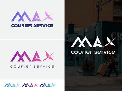 MAX Courier Service Logo service logo service courier logo courier letter logo letter logo design lettermark maxlogo logotype logo mark logodesign logo design design vector corporate identity branding logos logo