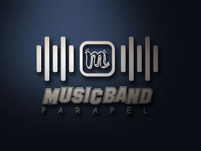 Music Band Logo music player graphic design logo design branding m logo music logo music logotype logo mark logodesign logo design design vector corporate identity branding logos logo