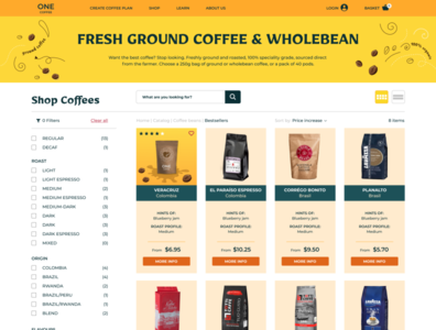 coffee shop_page 2 figma web ui design