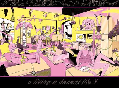 LIVING A DECENT LIFE illustration