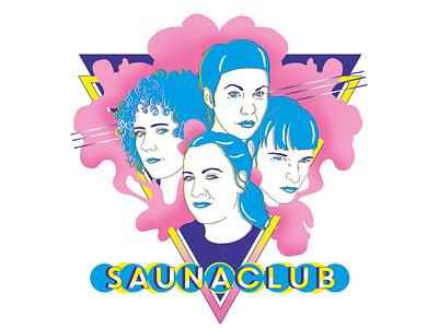 SAUNACLUB graphics typography graphic design drawing design illustration