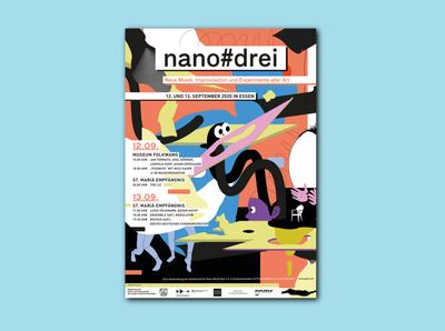 NANO#DREI poster art poster graphics graphic design design illustration
