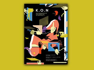 K.O.N poster art poster graphics graphic design design illustration