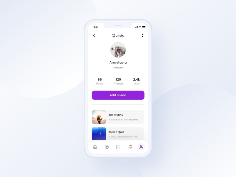 User Profile Screen Day 4 #10ddc userinterface screens uidesigns uichallenge dailyui appdesigner appdesign app design app uxui design uxui uxdesigner uidesigner designer uxdesign ux uidesign