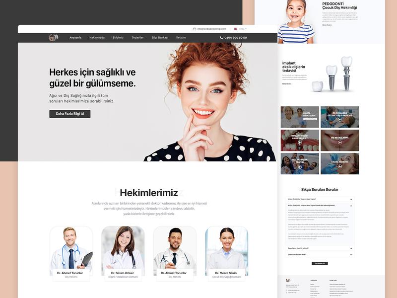 Dental Clinic Website Design - Homepage website concept medical care doctor clinic ux uı web design kerem birgün implant dentist dental dental website design dental clinic