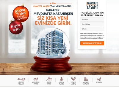 Real Estate - Landing Page - Winter