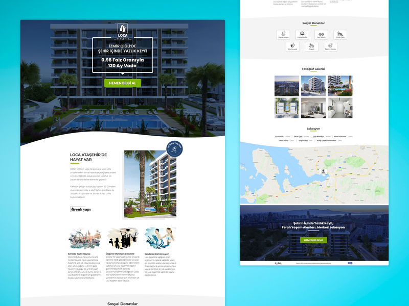 Lead Generation Landing Page kerem birgün zingat real estate agency real estate design ui design ui  ux lead generation landing page