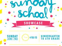 Sunday School Showcase postcard