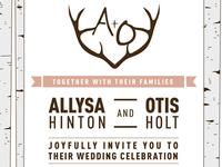 A Very NW Wedding Invite
