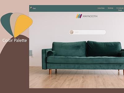 Maynooth Project project style concept webdesig website furniture designer uxui uidesign design uxdesign