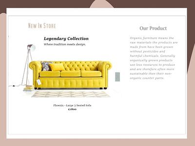 Maynooth Project 2 screen uxui freelancer designer uidesign uxdesign website furniture