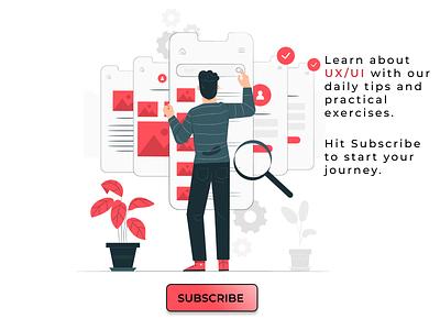 Subscribe Hint follow subscribe uidesign uxdesign illustration design designer dailyui 026 dailyui uxuidesign uxui