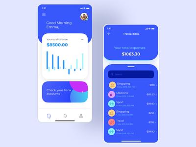 Mobile Banking App freelancer bankingapp banking mobile uxdesigner uitrends uxtrends userinterface mobile app design mobile app design designer uxui uxdesign uidesign