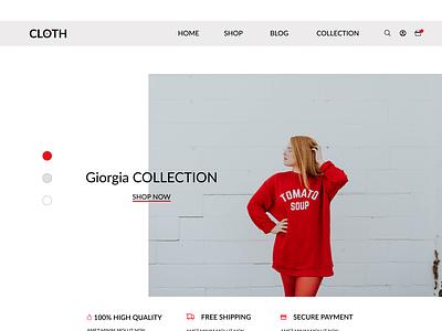CLOTH Homepage fashion homepage webdesigner webdesig fashionwebsite fashiondesign figma website freelancer design dailyui designer uxui uxdesign uidesign
