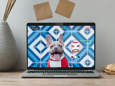 Dribbble Dog bestshot dribbble uitrends uxtrends dailyinspiration uiinspiration userinterface cool style dogs webdesign website figma designer dailyui uxdesign uxui uidesign