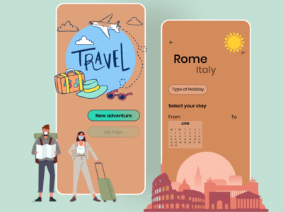 Hey Ho, let's go! [Travel App] user experience uiuxdesigner uiuxdesign uxinspiration uitrends uxtrends uiinspiration travelapp mobileapplication app figma userinterface dailyui design designer uxui uxdesign uidesign
