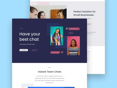 ChatApp Concept uidesigner webflow figma website design designer uxui uxdesign uidesign