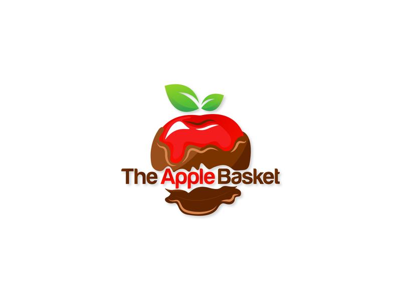 The Apple Basket logo design pleasing logo chocolate logo chocolate apple logo professional logo art illustrator vector logo typography minimal illustration flat design branding