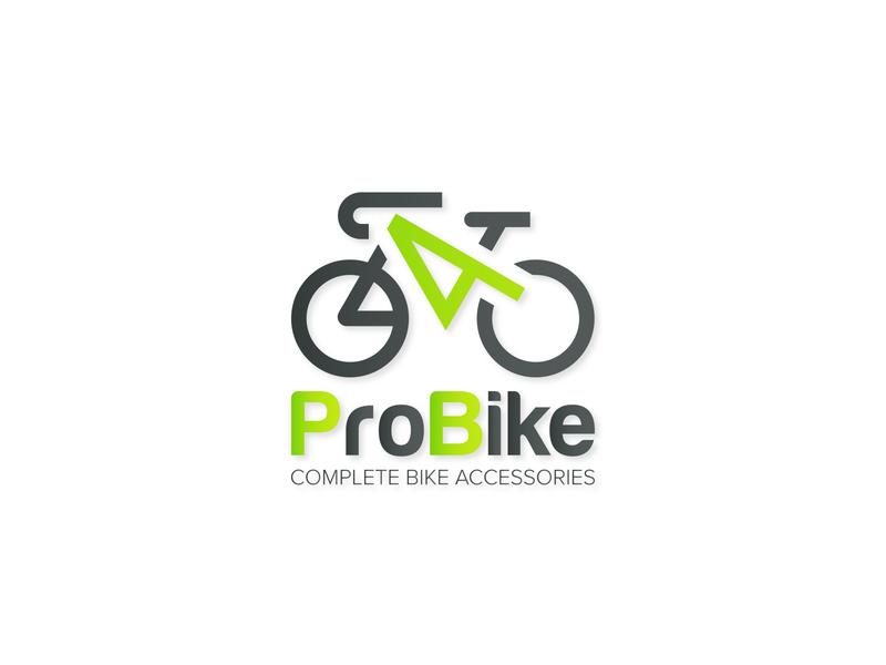 4ProBike logo design professional logo inspirational logo green logo bicycle logo bike logo art illustrator vector logo typography minimal illustration flat design branding