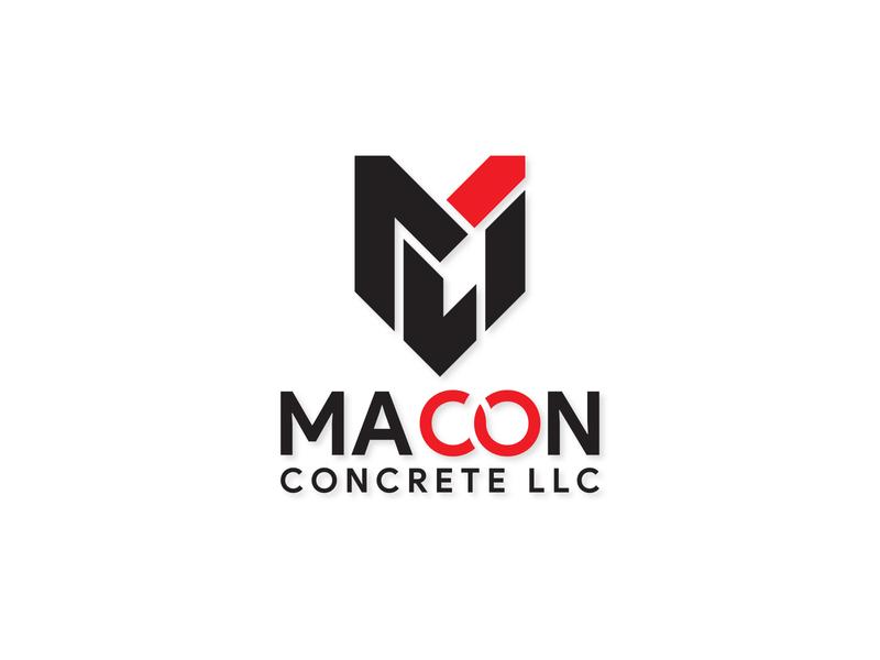 Macon concrete LLC unique logo mc logo construction logo professional logo art illustrator vector logo typography minimal illustration flat design branding