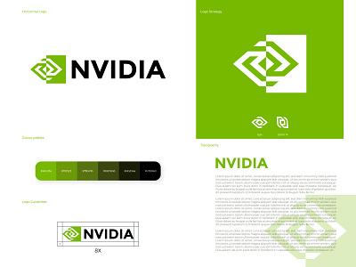 Nvidia logo redesign nvidia logo redesign redesign vector illustrator logo design logodesign logotype logos logo branding design brand identity brand design branding brand