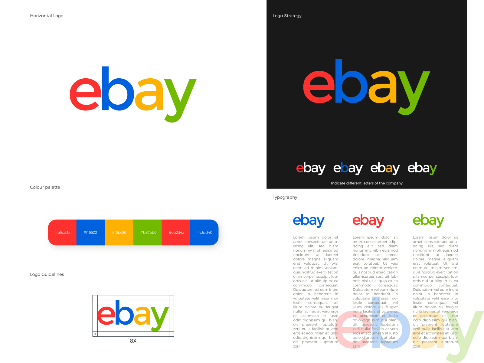 Ebay Logo Redesign By Ganith On Dribbble