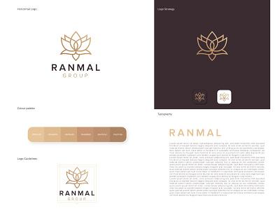 Ranmal Logo Design art minimalist logo luxury logo minimal design logo design logodesign logos logotype logo illustrator lotus logo lotus flower logo flower branding design brand design brand identity branding brand