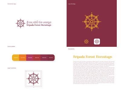 Buddhist logo temple logo dharma wheel vector design illustration illustrator logodesign logotype logo design logos logo branding design brand design brand identity branding brand