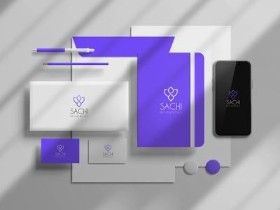 Sachi Residencies logo design elegant flat design flowers flower geometric graphics graphicdesign vector illustration vector art symbol purple packaging paper modern minimalist minimalism logo designer logos logomark