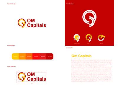Om Capitals logo design paper packaging elegant symbol vector art best logo flat design graphicdesign graphics modern geometric minimalism minimalist brand identity design branding design logotype logomark logo designer logos