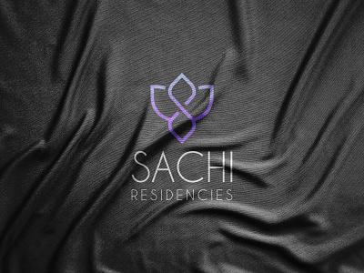 Sachi Residencies logo design flower abstract logotype logo mark logos logo designer minimalism minimalist modern paper symbol vector illustration vector art graphic design graphics geometric flat design elegant 2021 logo 2021 trend
