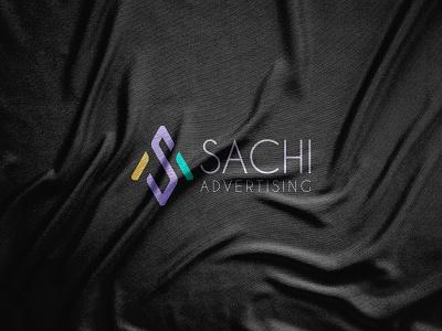 Sachi Advertising logo design abstract logotype logo mark logos logo designer minimalism minimalist modern paper symbol vector illustration vector art graphic design graphics geometric flat design elegant 2021 logo 2021 trend advertising