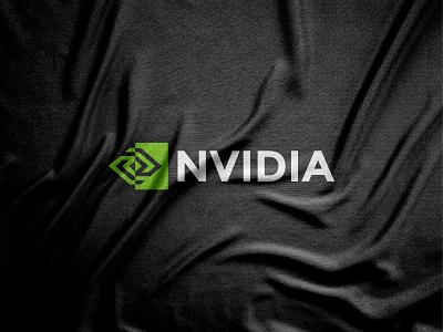 Nvidia logo redesign nvidia 2021 trend 2021 logo elegant flat design geometric graphics graphic design vector art vector illustration symbol paper modern minimalist minimalism logo designer logos logo mark logotype abstract