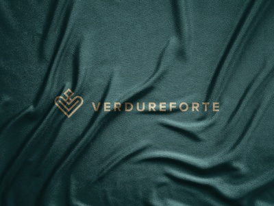 Verdureforte logo design gold 2021 logo 2021 trend elegant geometric graphics graphic design vector art vector illustration symbol paper modern minimalism minimalist logo designer logos logo mark logotype abstract