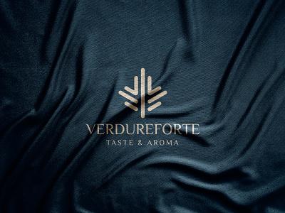 Verdureforte logo design abstract logotype logo mark logos logo designer minimalist minimalism modern paper symbol vector illustration vector art graphic design graphics geometric elegant 2021 trend 2021 logo gold