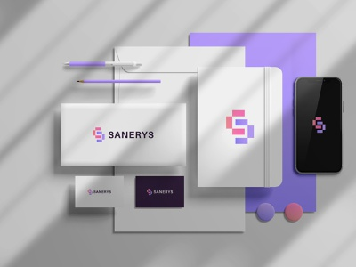 Sanerys logo design abstract logotype logo mark logos logo designer minimalist minimalism modern paper symbol vector illustration vector art graphic design graphics geometric elegant 2021 logo 2021 trend tech