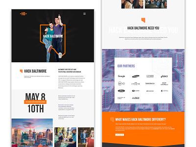 Hack Baltimore Community event community branding website