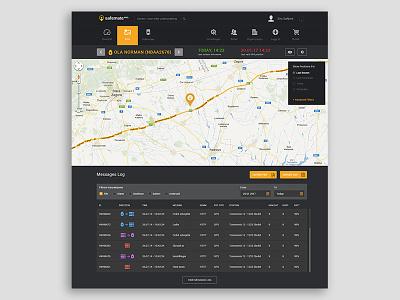 GPS Tracking dashboard tracking gps html bootstrap webapp saas app photoshop design ux ui